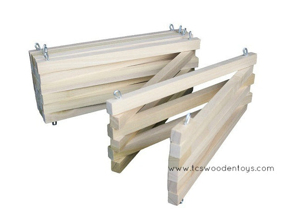 Wooden Toy Corral Fence - Foldable