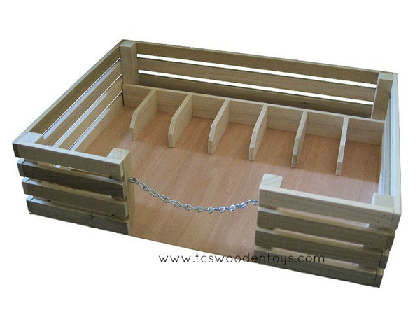 CL19 Wood Toy Corral Stockyard for Horses and Animals