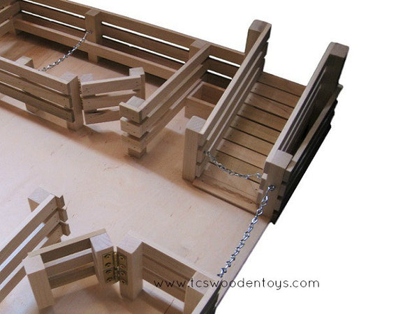 CL1 Wooden Toy Stockyard with LOFT - ramp view
