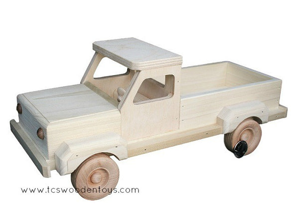 Wooden Toy Pickup and Livestock Farm Trailer GIFT SET