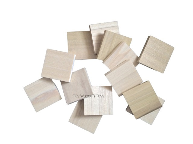 Wood Blank Tiles for Alphabet Hobby Craft