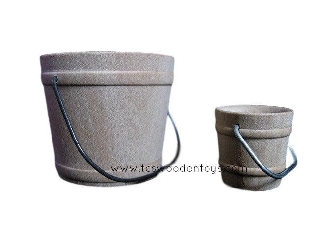 CL2829 Miniature Small Wood Buckets Dollhouse size