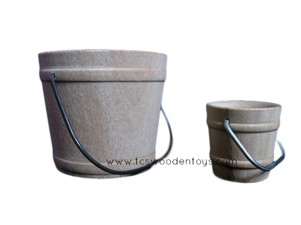 CL2829 Miniature Wood Toy Buckets