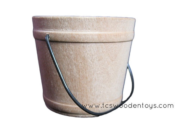 CL29 - 2 inch tall Wood Miniature Mini Bucket with handle