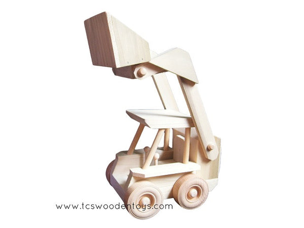 CL30 Amish Wood Toy Bobcat Skidloader Construction Toy