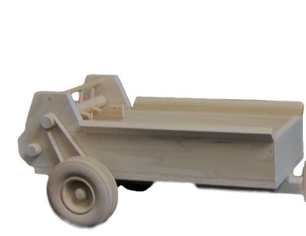 Wood Farm Toy Manure Field Spreader