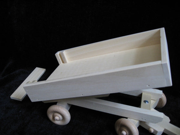 Wooden Toy Dump Wagon