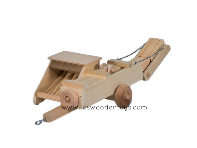 CL45 Amish Wooden Toy Farm Hay Baler