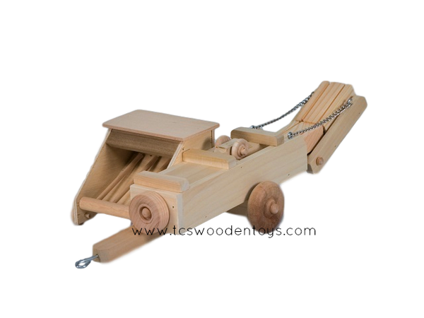Handcrafted Wooden Toy Hay Baler