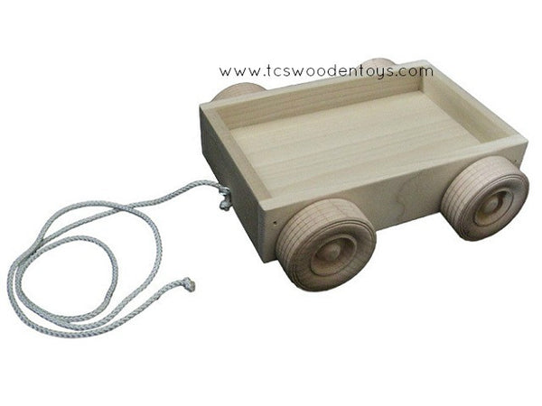 Wooden Wagon Trailer Pull Toy