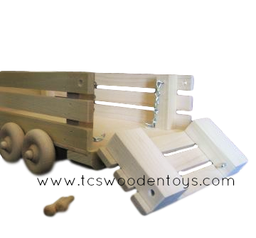 Pretend Play Farm Toy Livestock Hauling Wagon Trailer