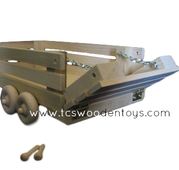Wood Toy Livestock Farm Trailer