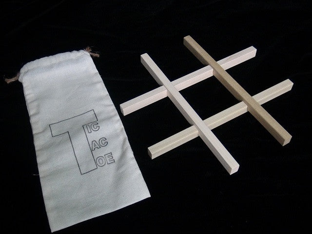 Wood Tic-Tac-Toe Game