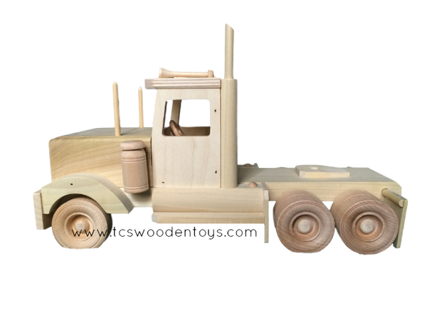 CL70A Wooden Toy Semi Tractor Truck ONLY - side view