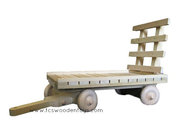 Amish Wooden Toy Hay Wagon