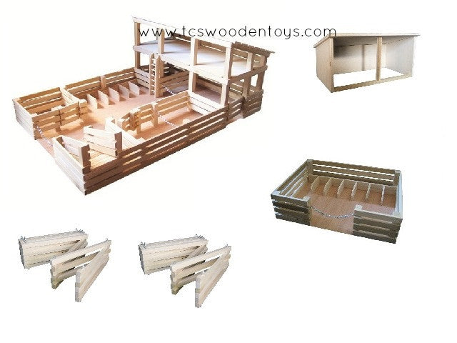 GS11 Wooden Toy Horse Farm Gift Set