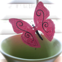 Moving HAPPY PINK Butterfly