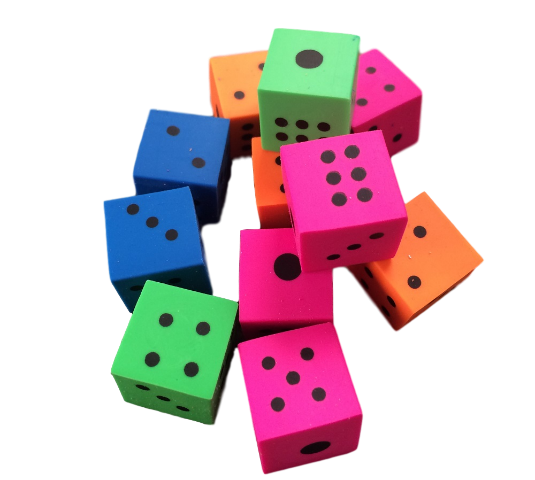 Square Dice Eraser - School Reward for Great Job
