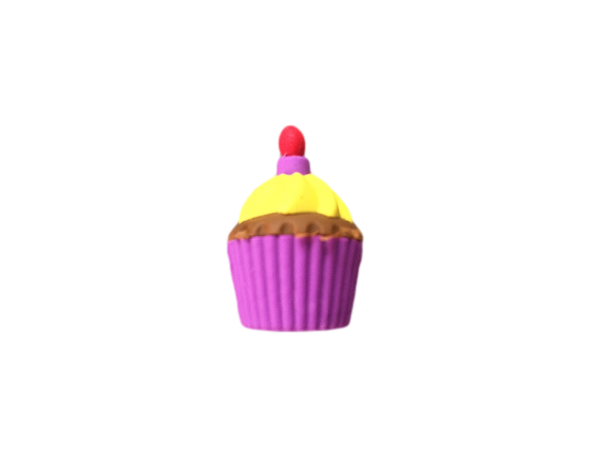 3D Cupcake Eraser - Food Eraser Fun