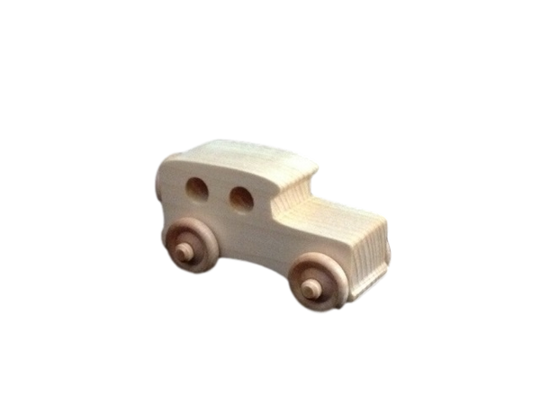 OWT30D Wooden Toy Chunky Carriage Car