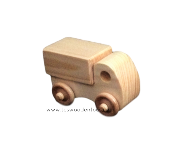 Handmade Chunky Wood Toy Mini Box Truck