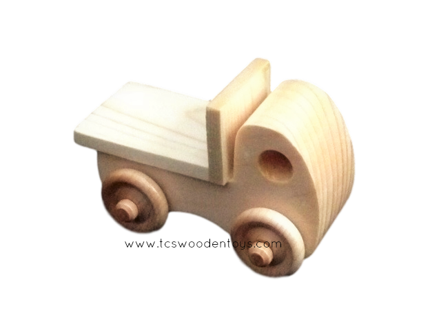 Miniature Wood Flatbed Truck Toy