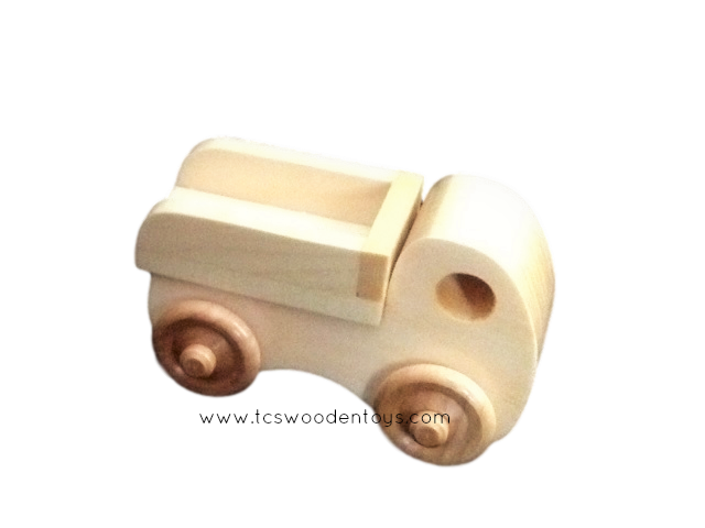 Chunky Wood Toy Mini Dump Truck