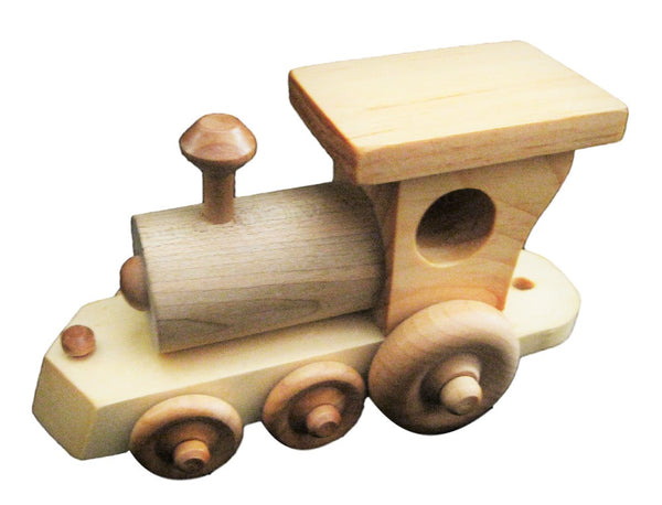 Wood Toy Freight Train Steam Engine ONLY