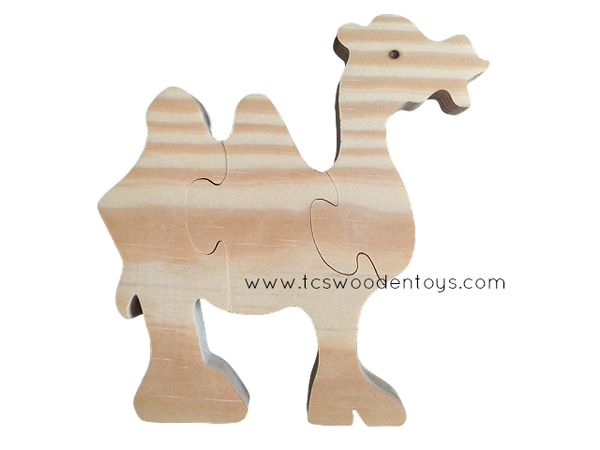 WP124 Chunky Wooden Cutout Zoo Safari Animal Camel Puzzle