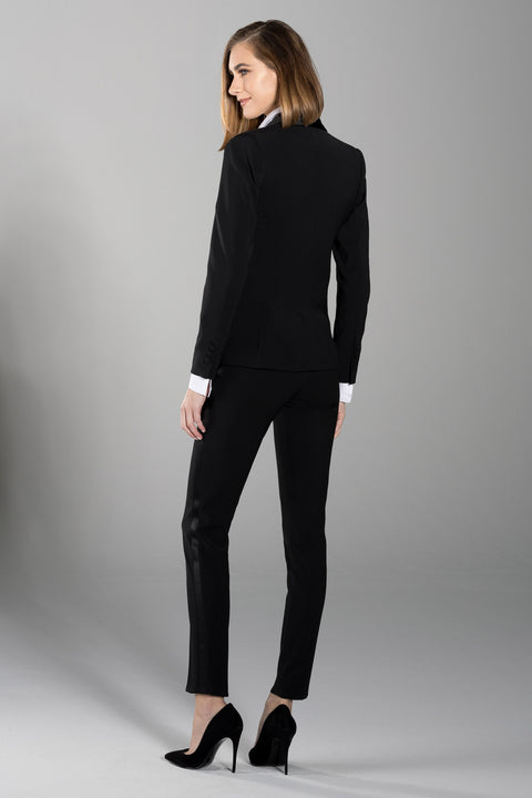 Black Shawl Collar Tuxedo Jacket