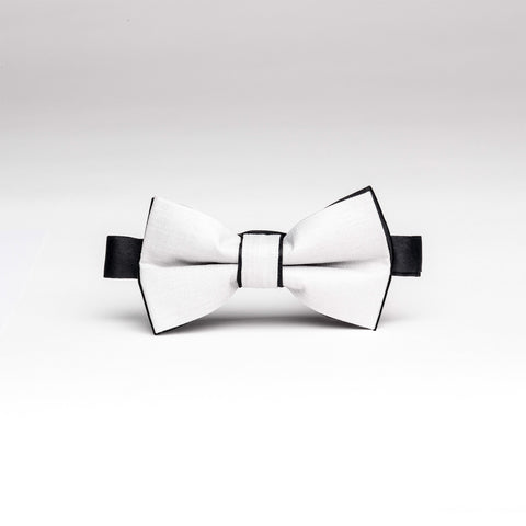Gray & Black Trim Micro/Poly Bow Tie