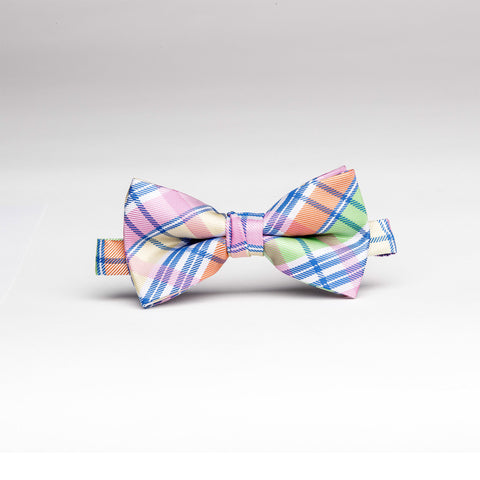 Plaid Pastel Micro/Poly Bow Tie