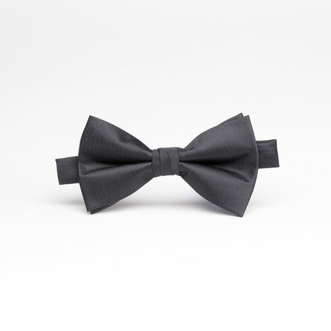 Satin Lined Texture Black Bow Tie
