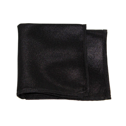 Black Poly/Satin Pocket Square