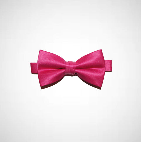 Fuchsia Poly/Satin Bow Tie - Women's Tuxedo Suits | girls prom tuxedo | gal tux | Wedding Party, Bridesmaids
