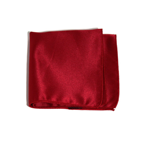 Crimson Poly/Satin Pocket Square