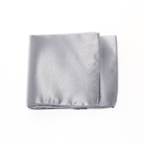 Platinum Poly/Satin Pocket Square