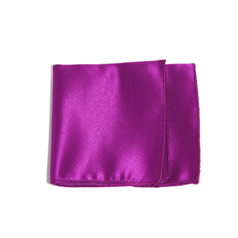 Violet Poly/Satin Pocket Square