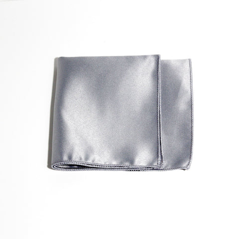 Silver Poly/Satin Pocket Square