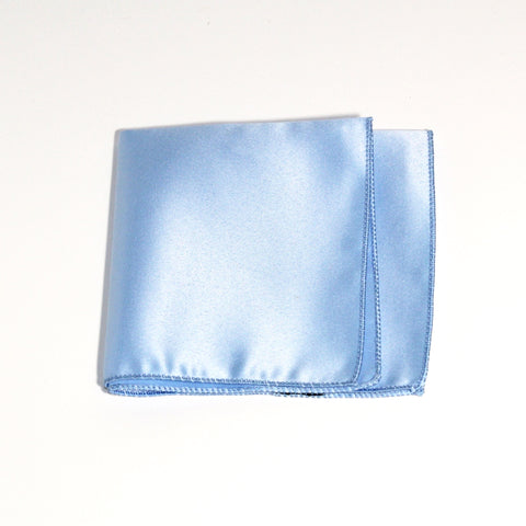Sky Blue Poly/Satin Pocket Square