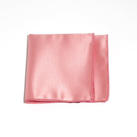 Rose Pink Poly/Satin Pocket Square