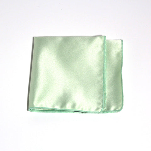 Mint Poly/Satin Pocket Square