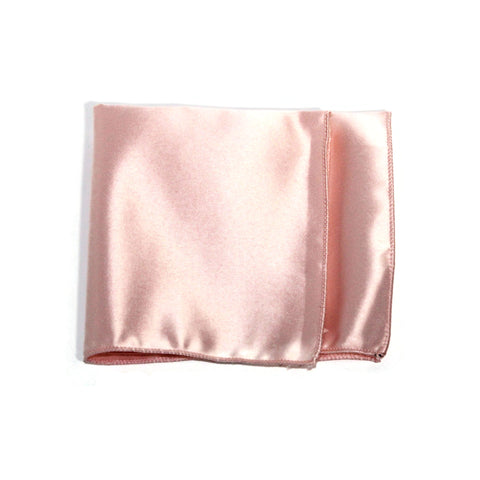 Blush Pink Poly/Satin Pocket Square - Women's Tuxedo Suits | girls prom tuxedo | gal tux | Wedding Party, Bridesmaids