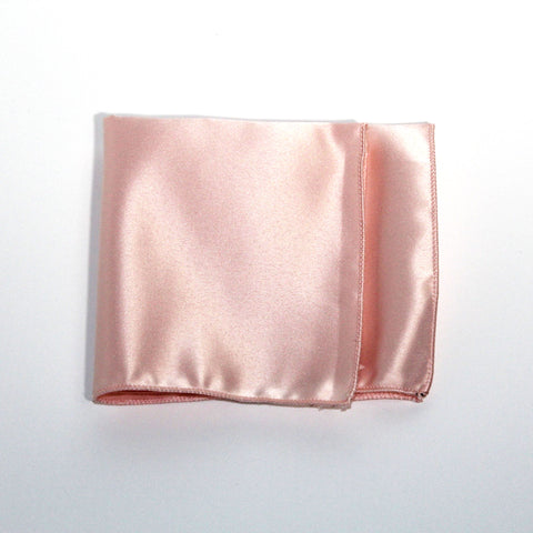 Ballerina Pink Poly/Satin Pocket Square