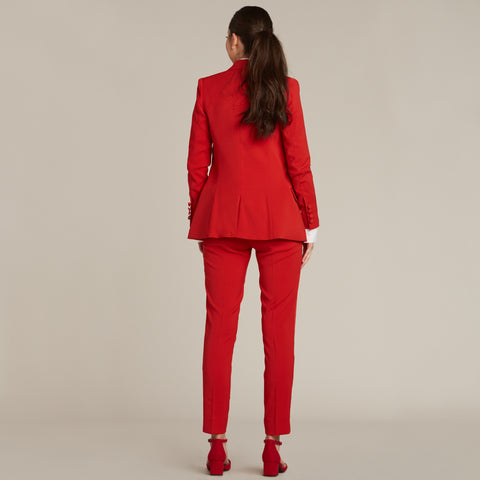 Red Ultra Slim Fit Tuxedo Pants - Women's Tuxedo Suits | girls prom tuxedo | gal tux | Wedding Party, Bridesmaids