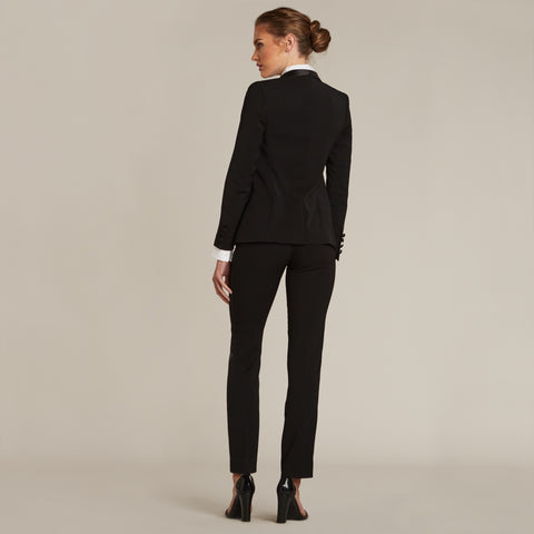 Black Slim Fit Tuxedo Pants - Women's Tuxedo Suits | girls prom tuxedo | gal tux | Wedding Party, Bridesmaids