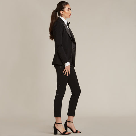 Black Ultra Slim Fit Tuxedo Pants