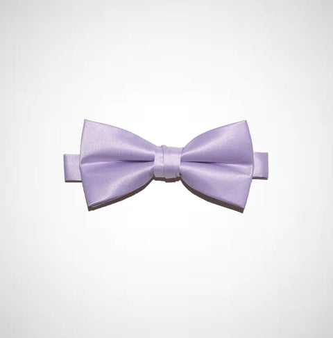 Lavender Poly/Satin Bow Tie