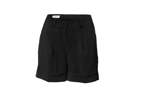 Black Pocketed Tuxedo Shorts