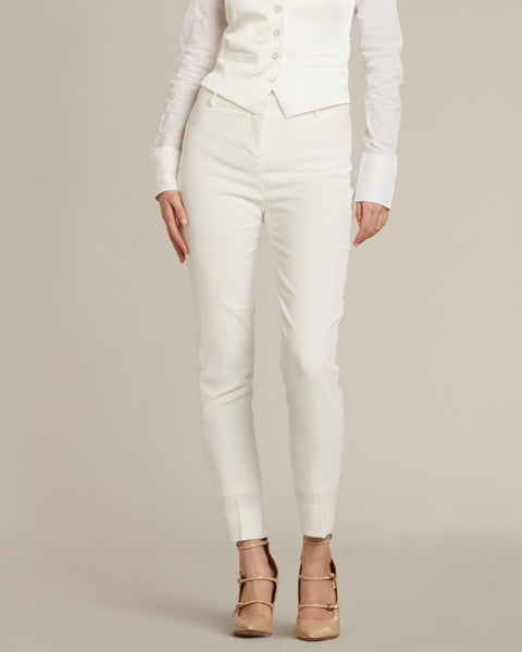 Diamond White Ultra Slim Fit Tuxedo Pants